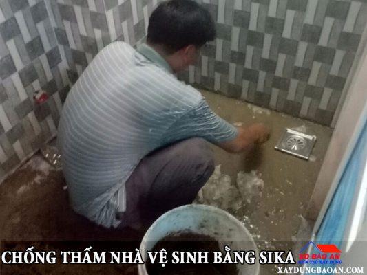 Chống thấm chống thấm nhà vệ sinh bằng sika