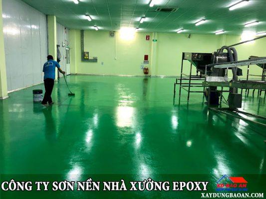 Dịch vụ sơn nền nhà xưởng epoxy