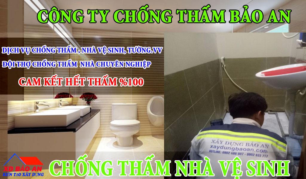 Quy trình chống thấm nhà vệ sinh