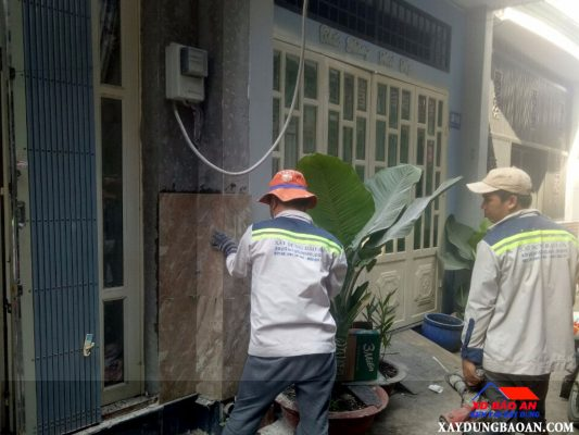 sửa chữa nhà quận gò vấp nhà chị chính
