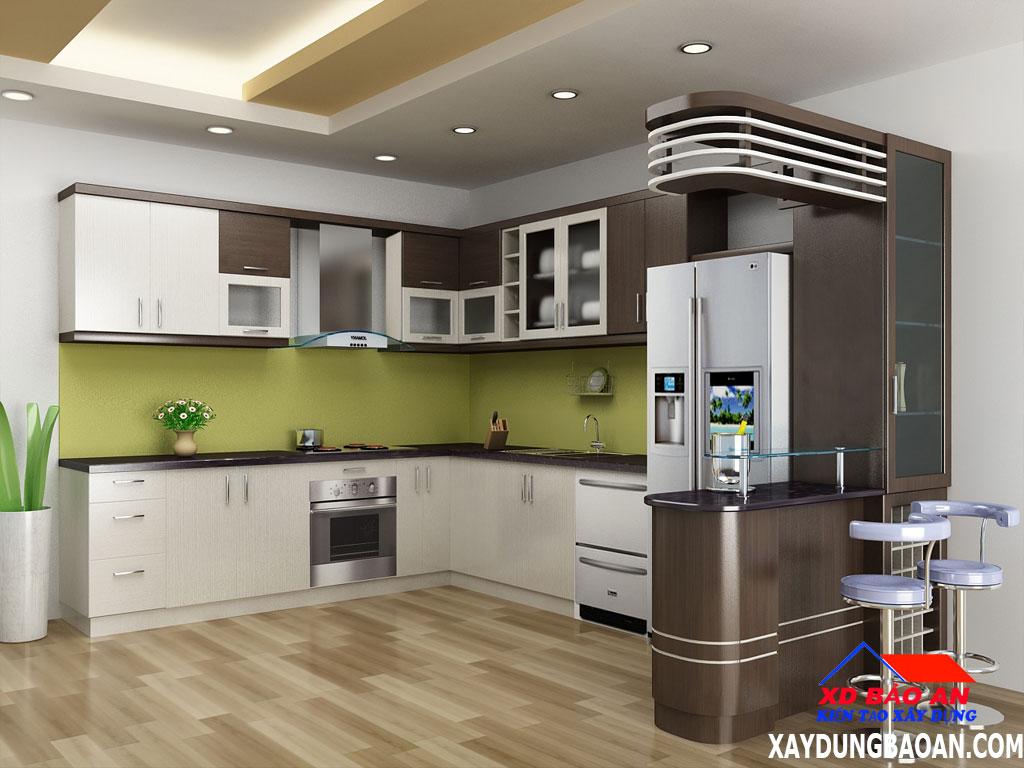 Mẫu gạch ốp lát nền phòng bếp đẹp nhất 2020