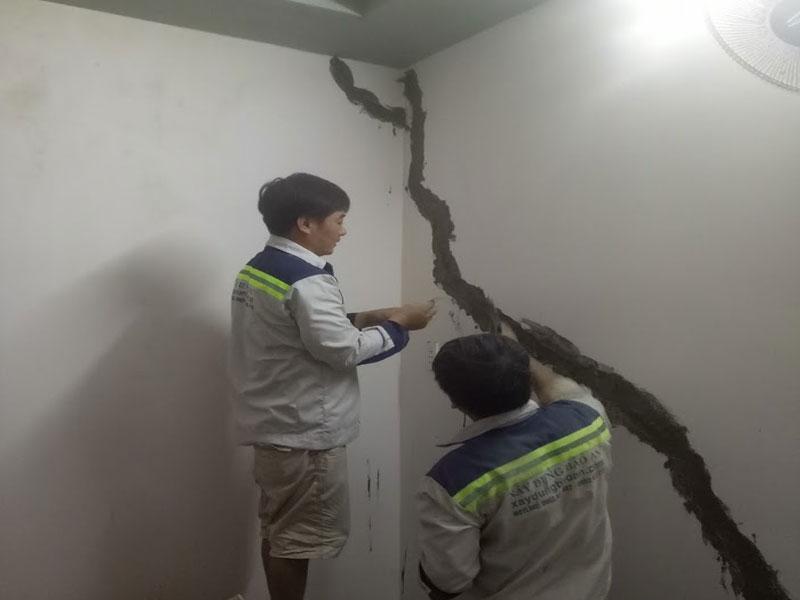 Dịch vụ sửa chữa nhà bị lún nứt nghiêng
