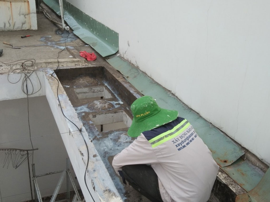 Báo giá dịch vụ chống thấm sân thượng