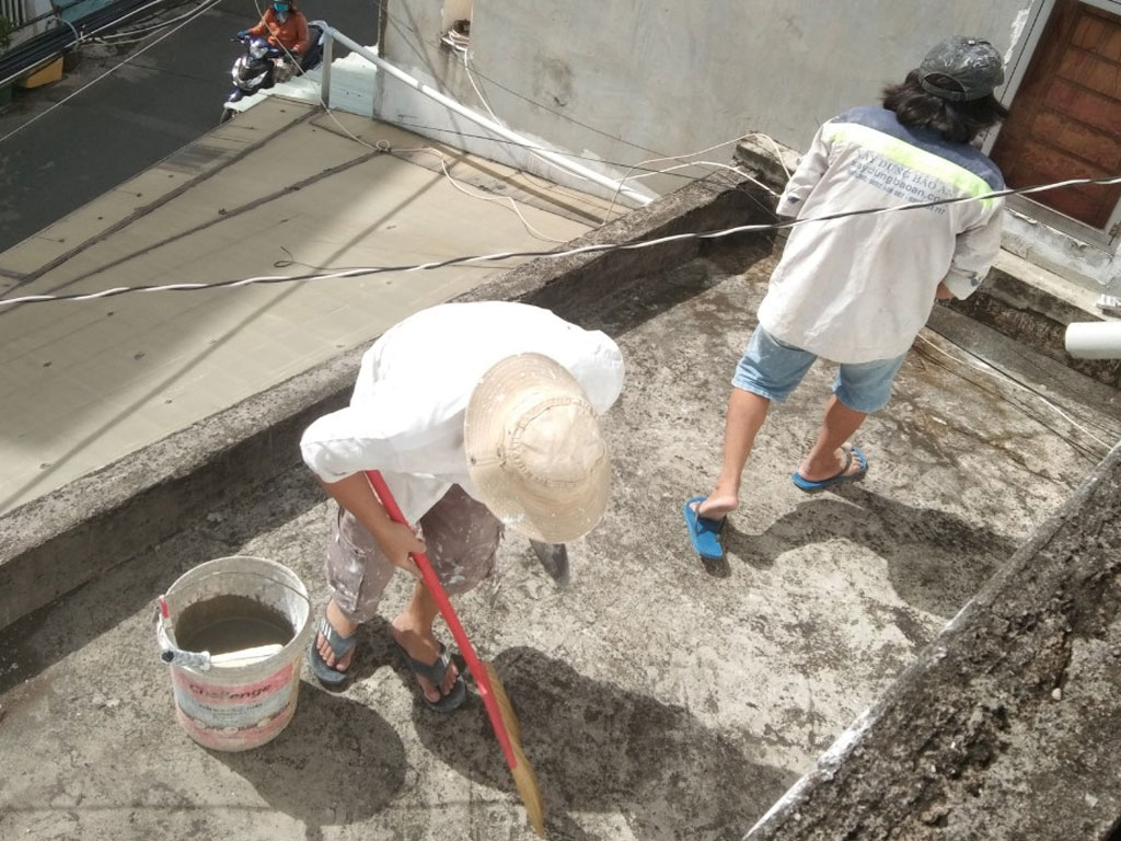 Dịch vụ chống thấm sân thượng tại quận 4