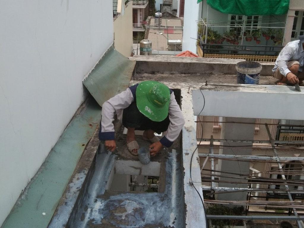 Dịch vụ chống thấm sân thượng tại quận Tân Phú