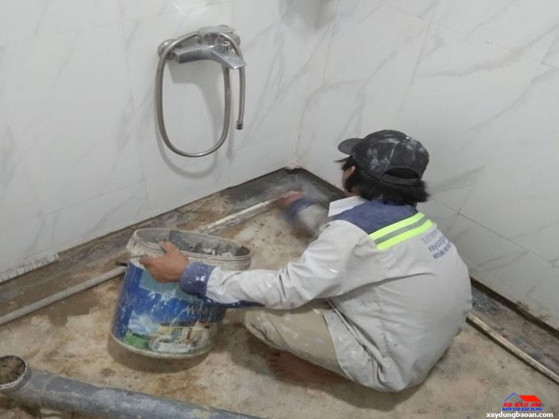 Công trình chống thấm nhà vệ sinh quận Tân Phú