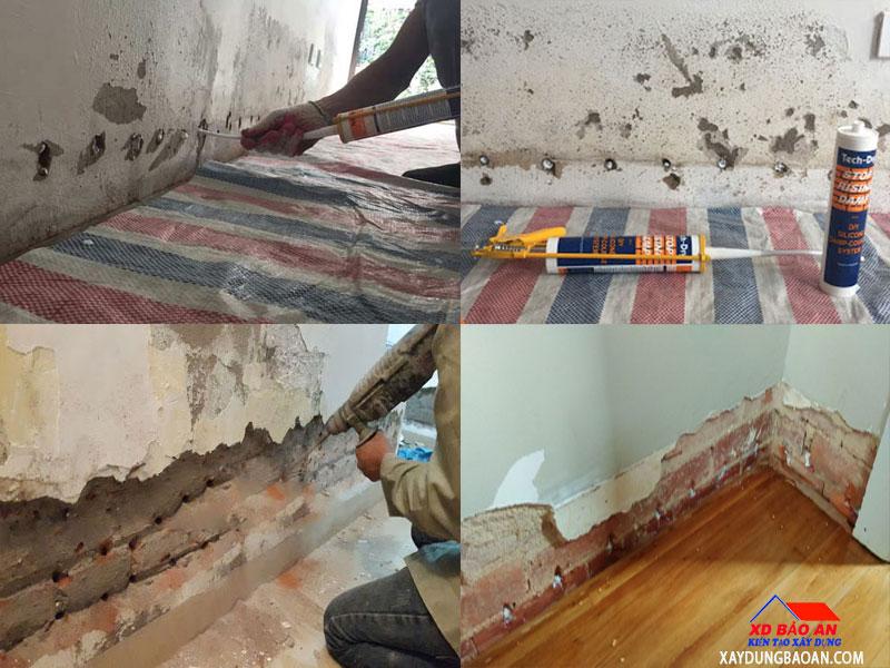 Dịch vụ chống thấm chân tường nhà