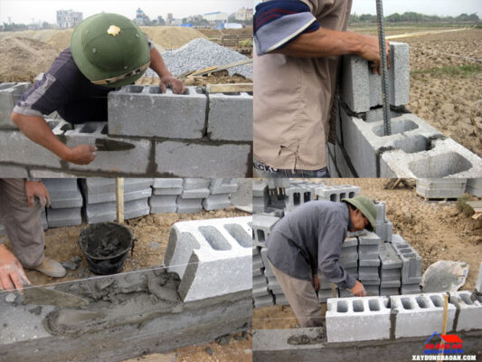 Đơn giá xây tường rào 2021