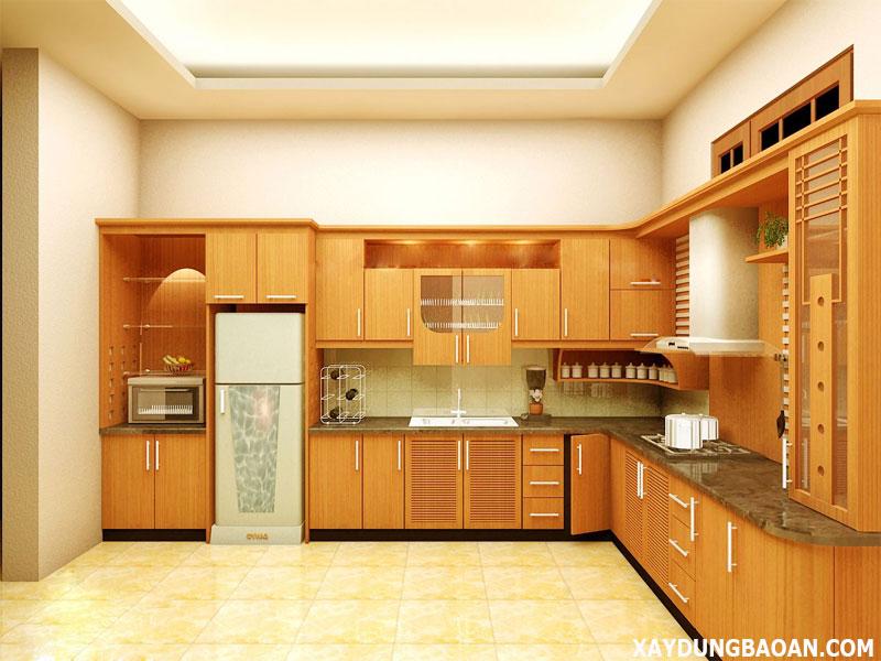 mẫu trang trí phòng bếp đẹp nhất 2021